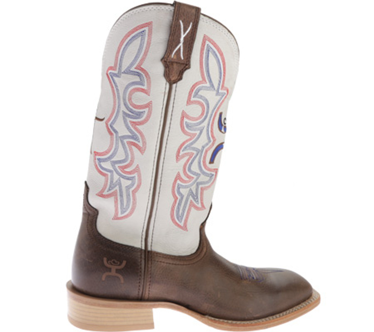 Twisted X Mens Square Toe Leather Western Hooey Boot