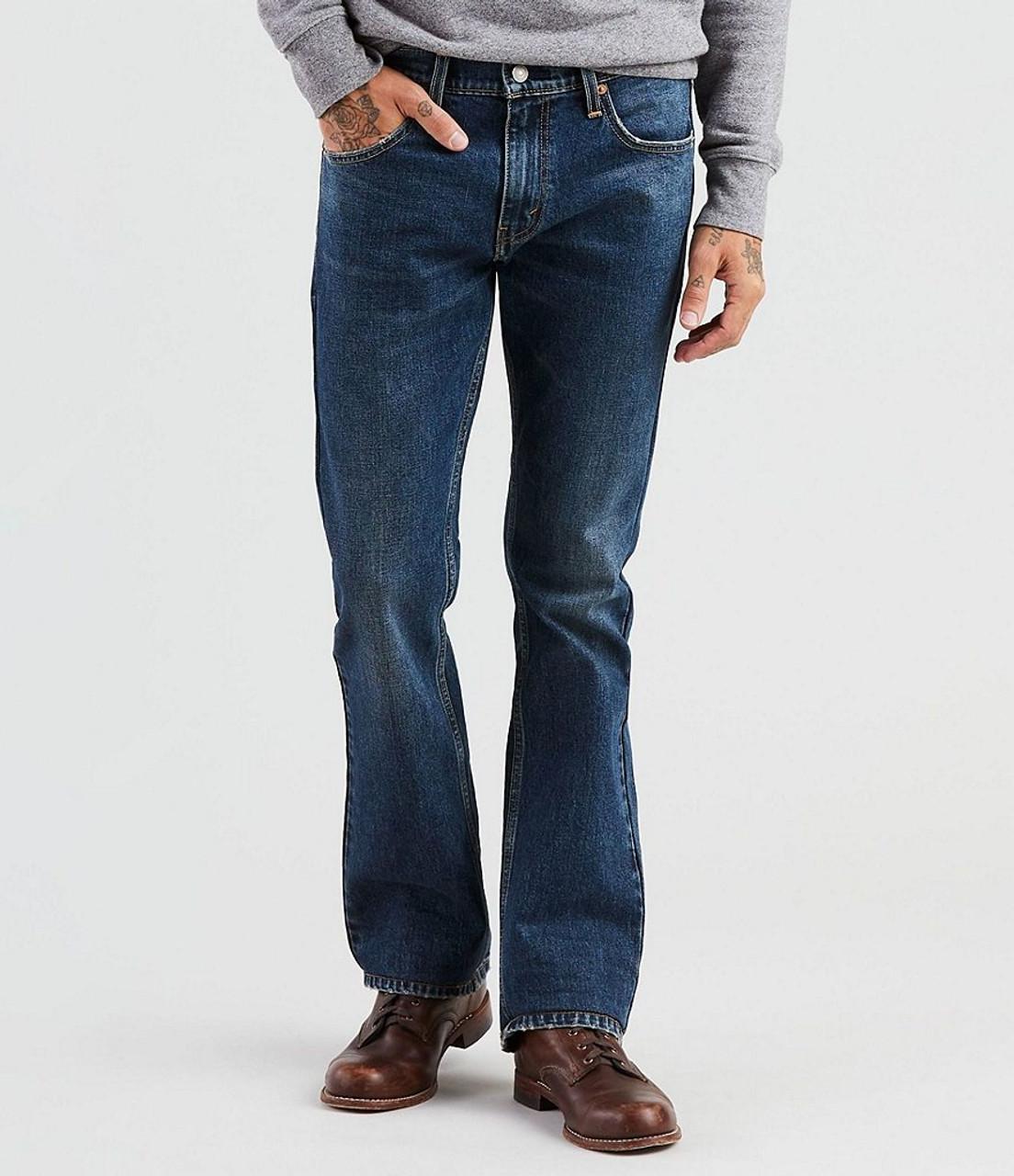 c70295f9090 527-0554 Slim Fit Stonewash Boot Cut Stretch Jeans Quickstep Indigo ...