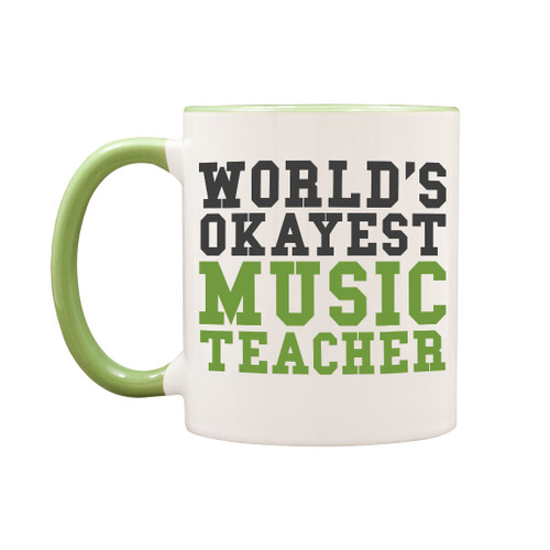 World's Okayest Music Teacher Mug