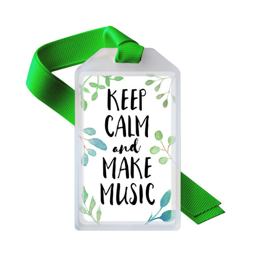 Keep calm and make music ID tag
