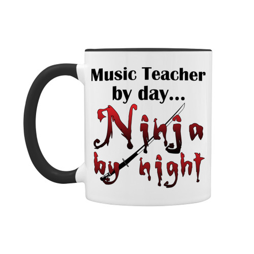 Music teacher ninja mug