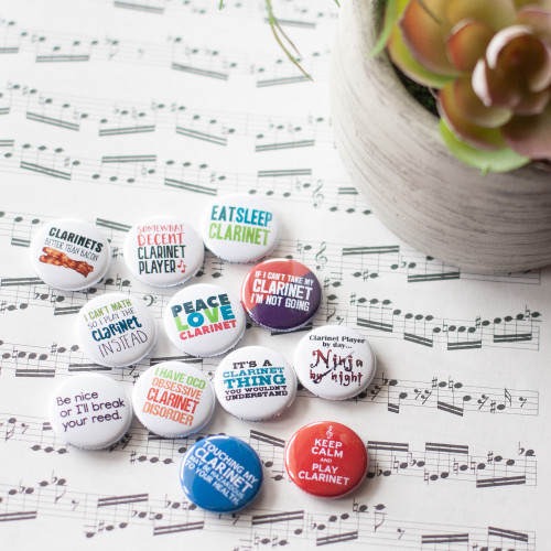 Set of 12 clarinet buttons