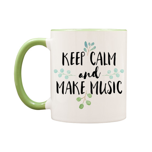 Keep calm and make music mug