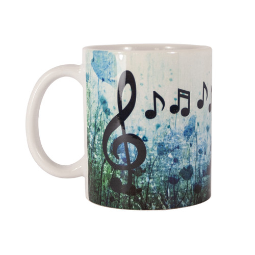 Treble clef and music notes mug