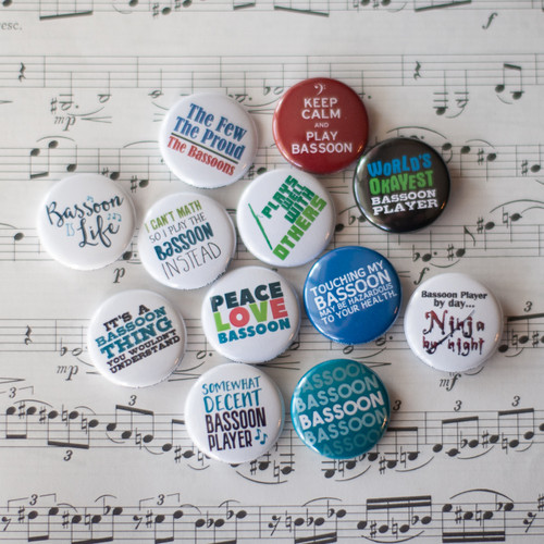 Bassoon 12pc Button Set
