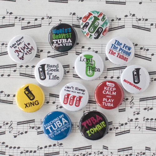 12 pc tuba button set