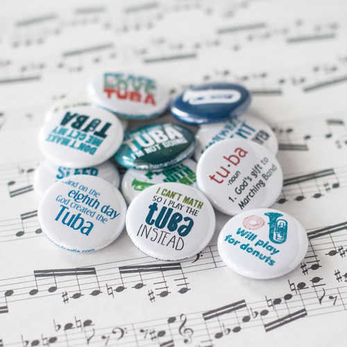 Tuba buttons - set of 12