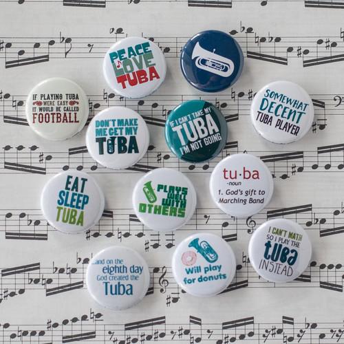 Tuba buttons - set of 12