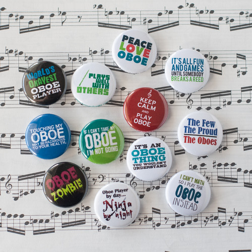 Set of 12 oboe buttons
