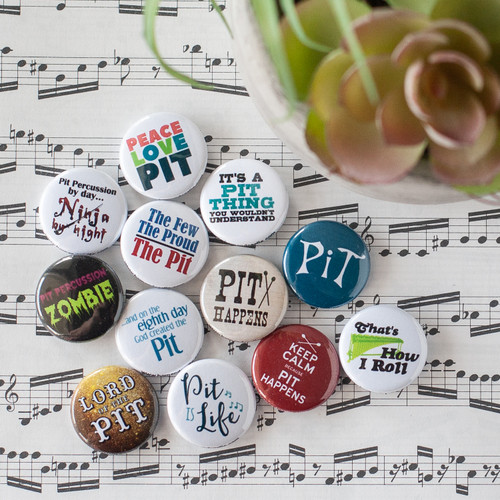 Pit percussion 12pc button set