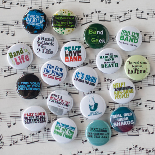 Marching band mini button set of 19
