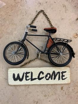 BIKE WELCOME DOOR SIGN