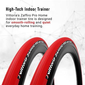 VITTORIA ZAFFIRO PRO HOME TRAINER FOLDING BIKE TIRE-700X23C-RED