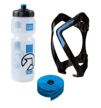 PRO BOTTLE WITH BOTTLE CAGE WITH HANDLEBAR TAPE SET-BLUE