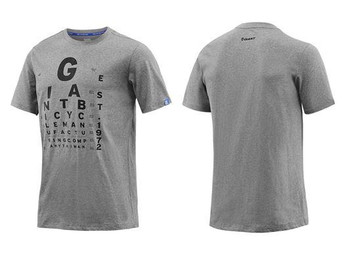 GIANT EYE-CHART T-SHIRT GREY