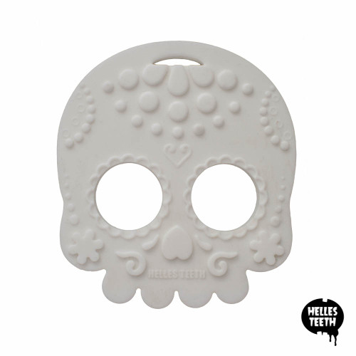 White skull baby teething toy
