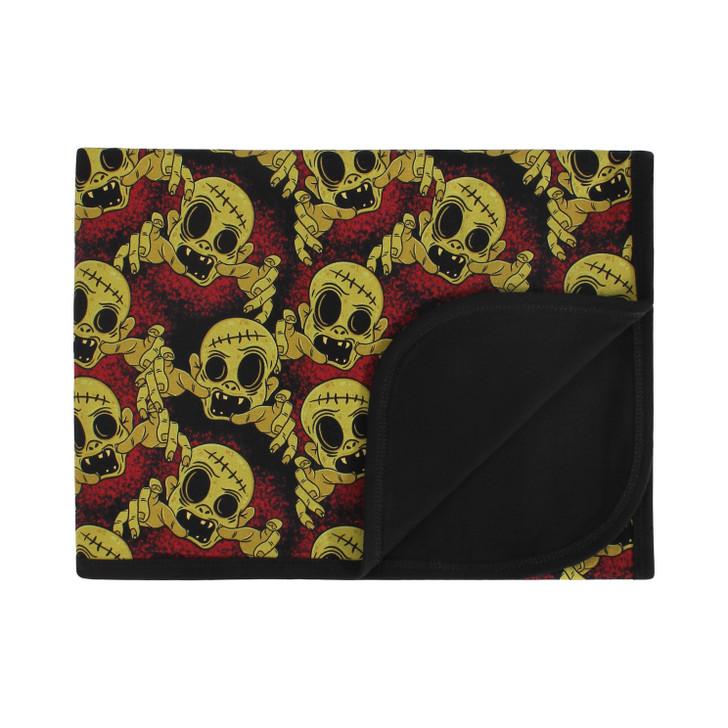 Zombie print blanket