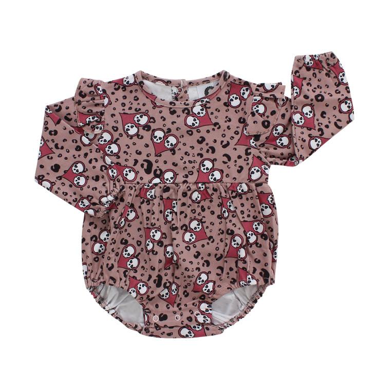 Pink skull baby vest