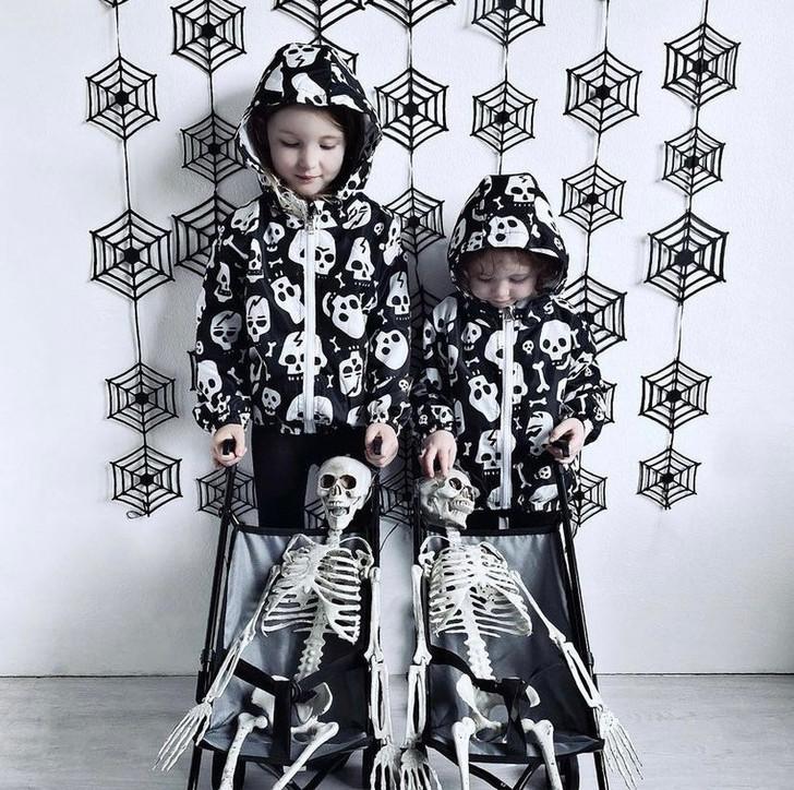 Skeleton kids jacket