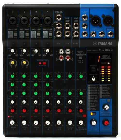 Yamaha Yamaha MG10XU 10-channel Mixer with USB and FX