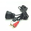 Car Dash Mount Installation USB AUX 2RCA Extension Data AV Cable Waterproof