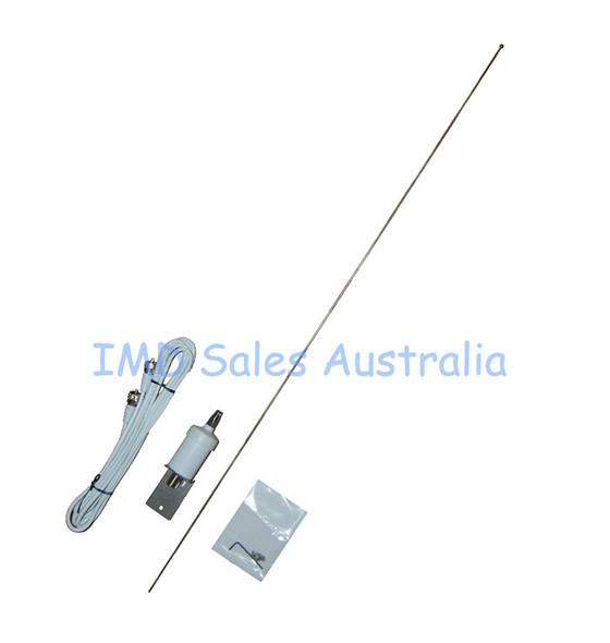 AXIS VHF Marine Antenna S/Steel 1m + Bracket + Cable Kit