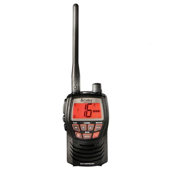 Cobra 3W VHF Splashproof Marine Handheld Radio - Compact Design