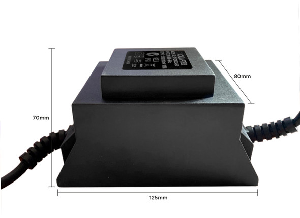 12V AC 105W Toroidal Transformer Waterproof - Suitable for Pool Lights