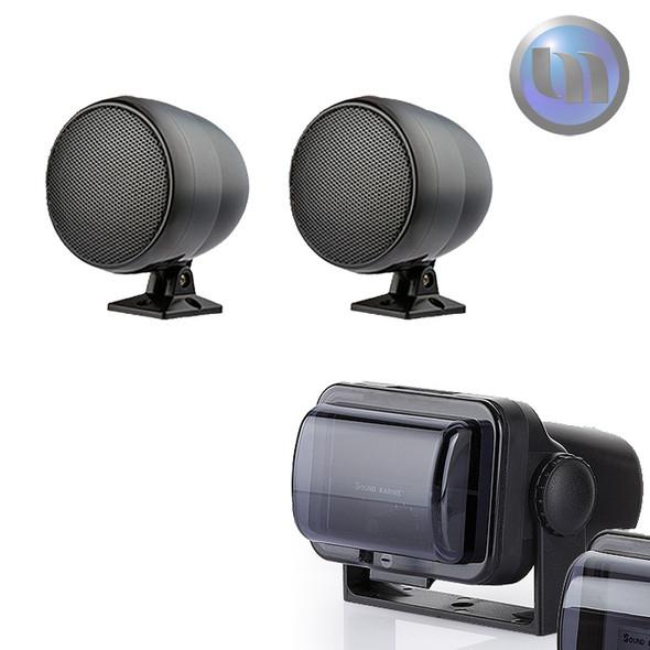 Marine/Boat/Jet Ski Waterproof Audio System - 3 Inch - 30W Speakers