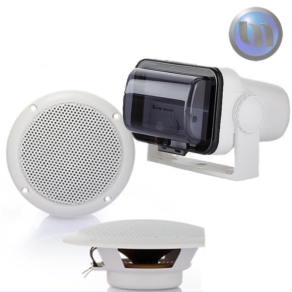 Marine/Boat/Jet Ski Waterproof Audio System - 4 Inch - 30W Speakers