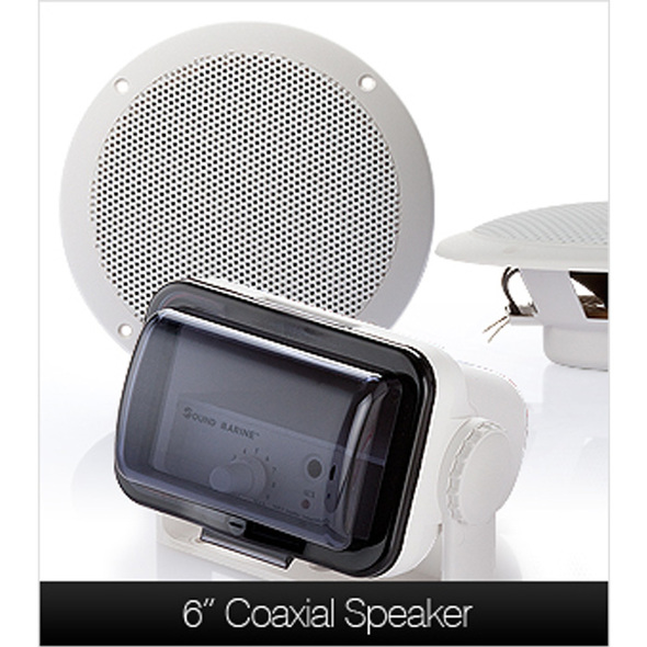 Marine/Boat/Jet Ski Waterproof Audio System - 6 Inch - 30W Speakers
