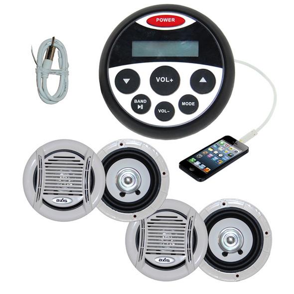 Marine Audio Combo Kit MP3/USB/FM/AM/Ipod stereo + 2 x Pairs of Speaker + Antenna