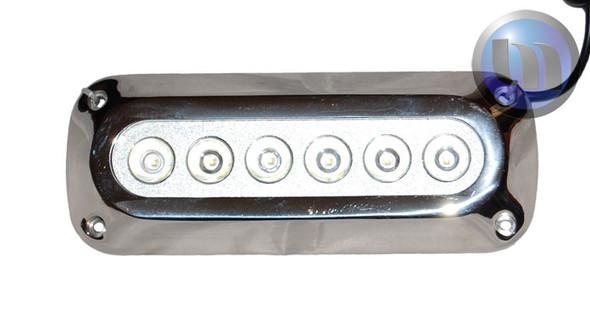 2 x 18W Underwater LED Boat Lights - Rectangle Design