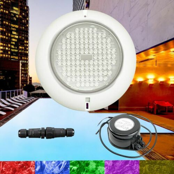 18W Resin Filled Ultra Bright RGB Pool Light + Power supply Kit - High Quality