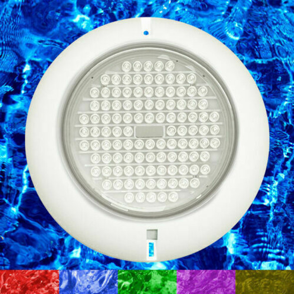 2 x 18W Resin Filled Retro Fit RGB Ultra Bright Underwater Pool Lights + Power + Cable Kit