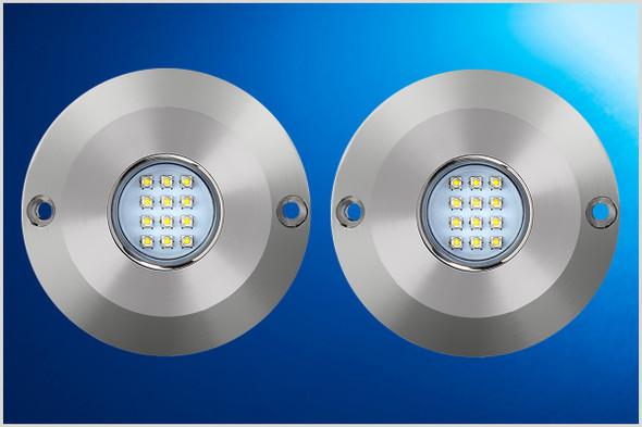 2 x Blue LED Underwater Lights