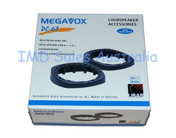 MegaVox 6 1/2 Inch Speaker Spacer Pair  Sloped / Angled