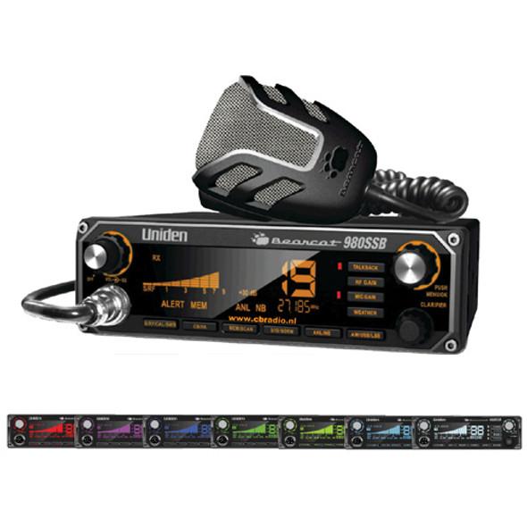 Uniden BC980SSB Bearcat 980 CB Radio 27Mhz with SSB 7 Colours