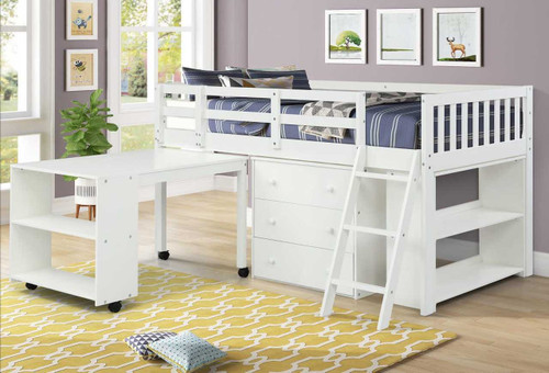 The Standard Prodigy Loft Bed - White