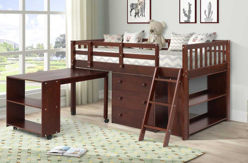 The Standard Prodigy Loft Bed - Cappuccino