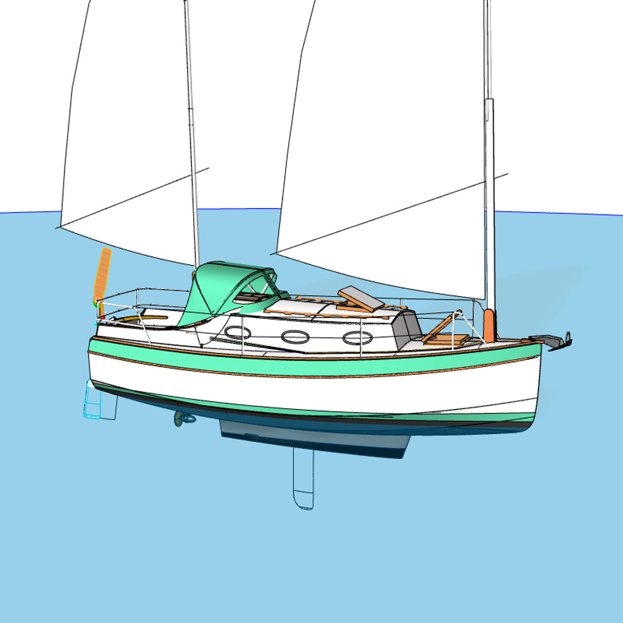 "Matthew Flinders 24'6"" Cruiser"