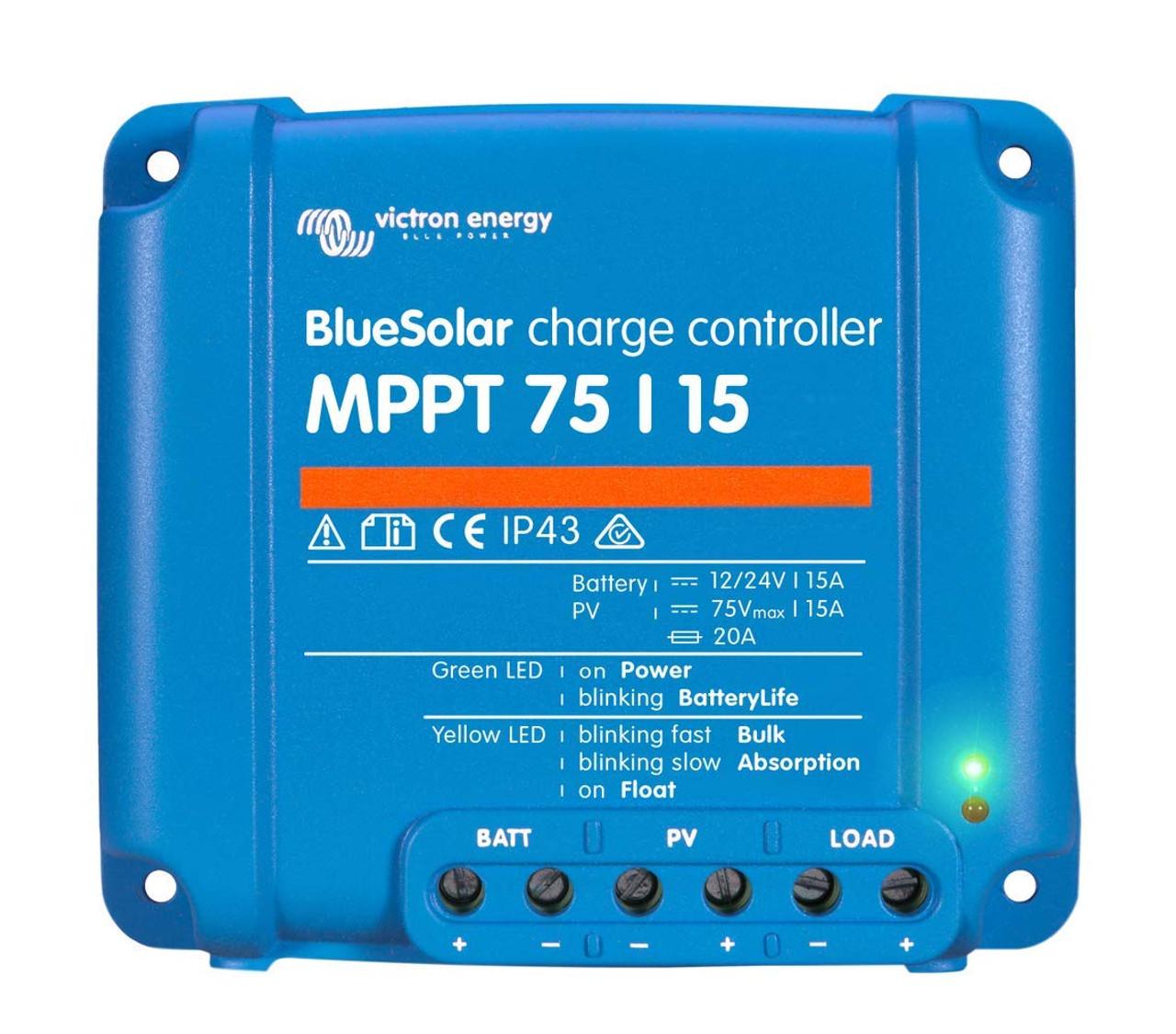 Victron BlueSolar MPPT Charge Controller - 75V - 15AMP [SCC010015050R]