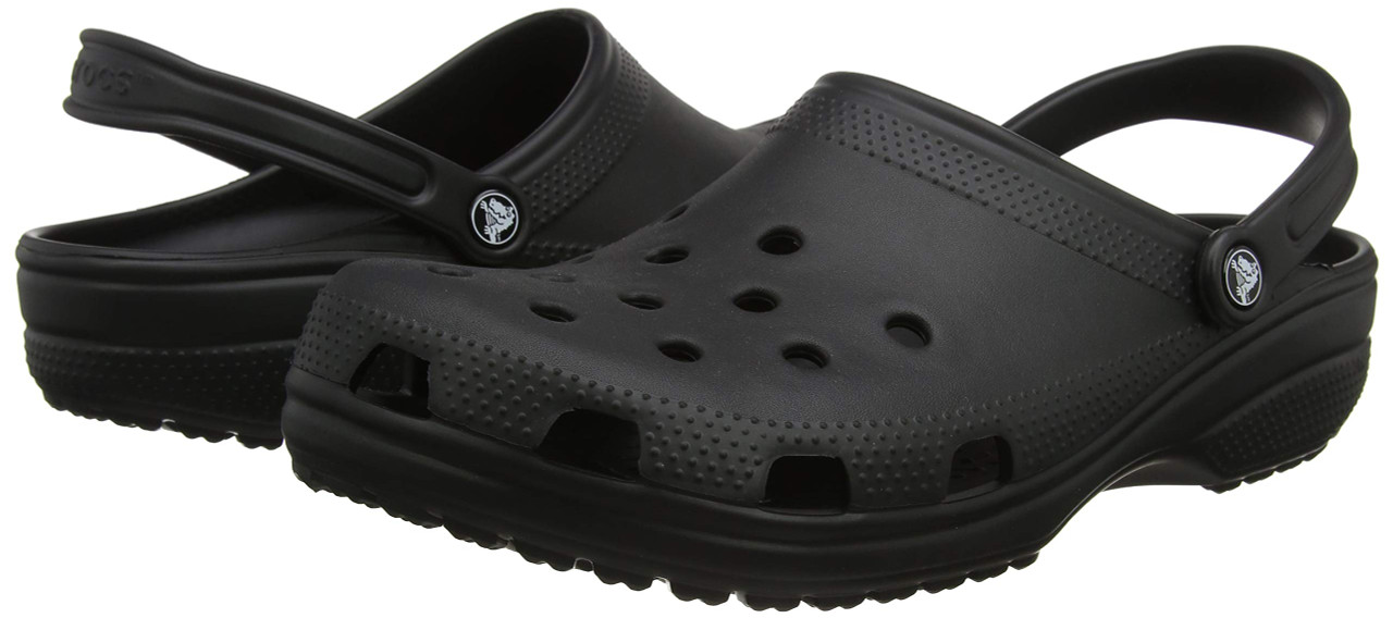 Crocs Classic Clog|Comfortable Slip On Casual Water Shoe, Black, 12 M US Women / 10 M US Men
