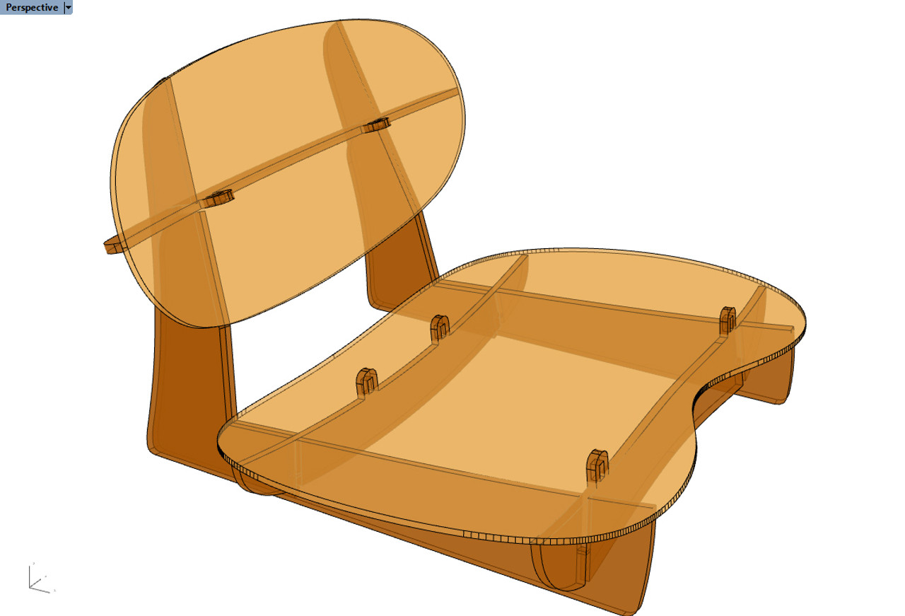 """Moccasin Canoe """"Tractor"""" Seat Plans"""