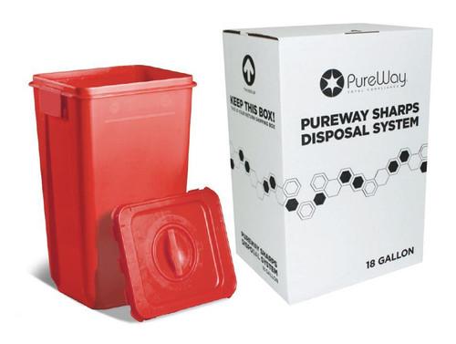 Pureway 18 Gallon Collection Bin  disposal System