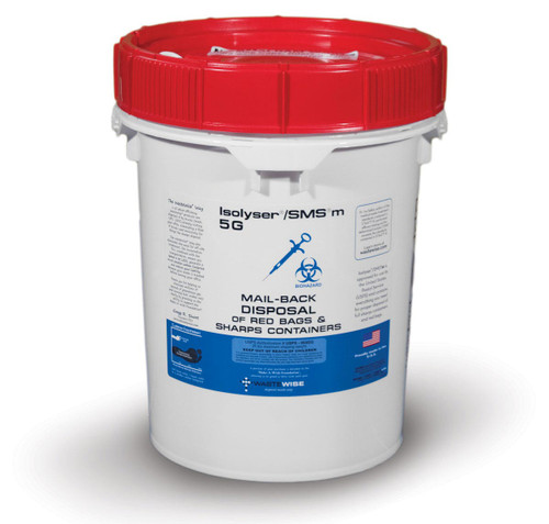 SMSm 5G For the disposal of Red Bag Waste and existing, full sharps container