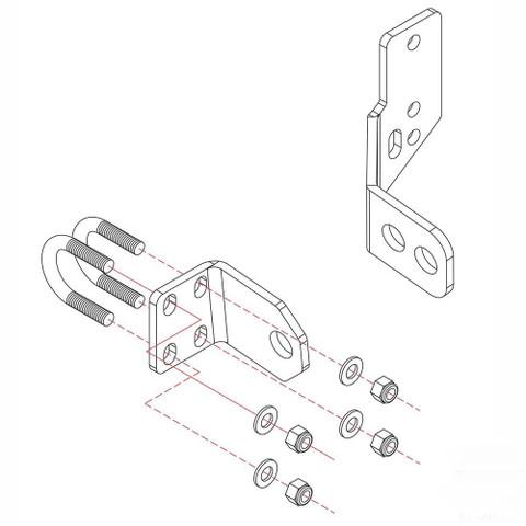 Roadmaster Reflex Steering Stabilizer Bracket Kit #RBK15