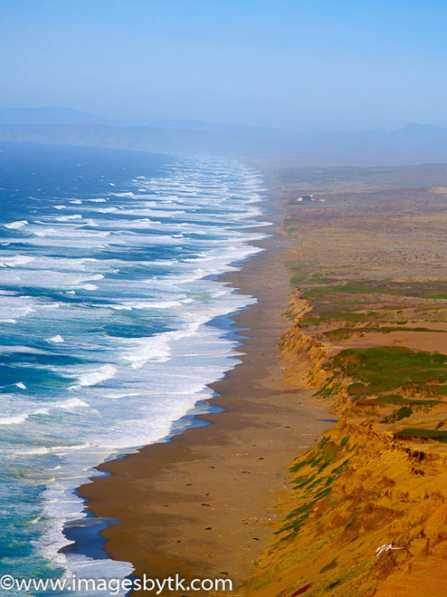 Waves and Bluffs - Point Reyes National Seashore- California