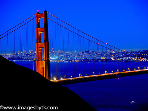 Bridge Lights - Golden Gate Bridge- California Fine Art Photograhy for Sale