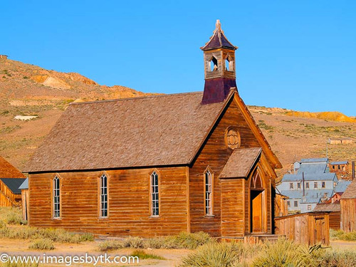 Methodist Church - Bodie  California Fine Art Photograhy for Sale